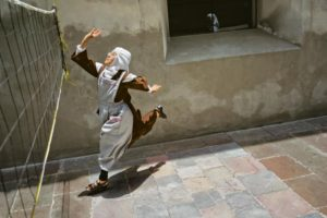 National Geographic photo of Mexican Nun playing Volley Ball in monastery